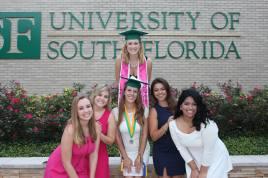 My Gamma Phi Beta family celebrating my graduation.