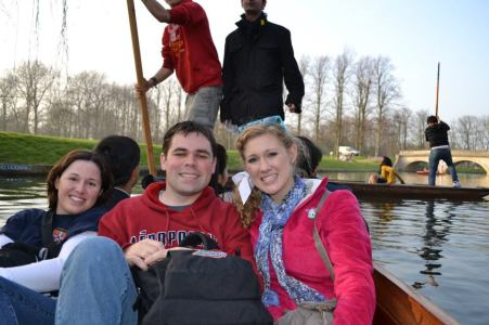 Amanda, Josh, and I on a bungalow ride in London.