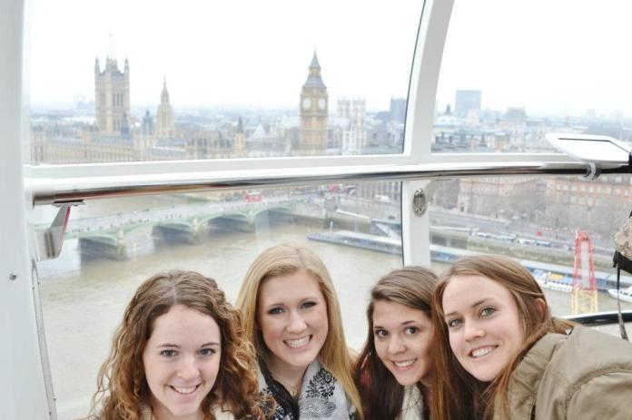Some of my freshman (and soon to be sophomore) friends/roommate in London.